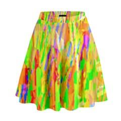 Cheerful Phantasmagoric Pattern High Waist Skirt