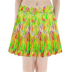 Cheerful Phantasmagoric Pattern Pleated Mini Skirt