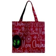 Christmas Decorations Retro Zipper Grocery Tote Bag
