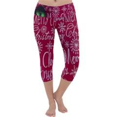 Christmas Decorations Retro Capri Yoga Leggings