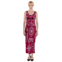 Christmas Decorations Retro Fitted Maxi Dress
