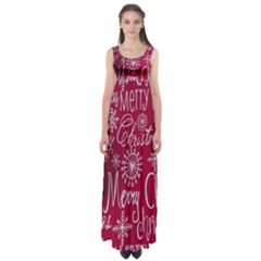 Christmas Decorations Retro Empire Waist Maxi Dress
