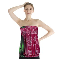 Christmas Decorations Retro Strapless Top