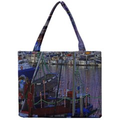 Christmas Boats In Harbor Mini Tote Bag
