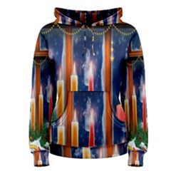 Christmas Lighting Candles Women s Pullover Hoodie