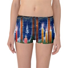 Christmas Lighting Candles Reversible Bikini Bottoms