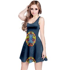 China Wind Dragon Reversible Sleeveless Dress