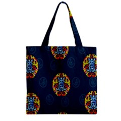 China Wind Dragon Zipper Grocery Tote Bag