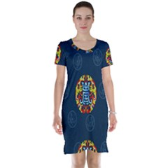 China Wind Dragon Short Sleeve Nightdress