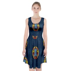 China Wind Dragon Racerback Midi Dress
