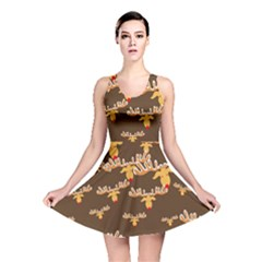 Christmas Reindeer Pattern Reversible Skater Dress