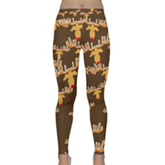 Christmas Reindeer Pattern Classic Yoga Leggings