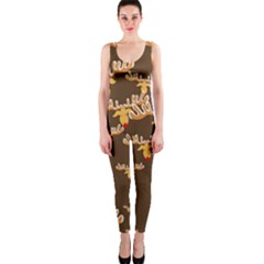 Christmas Reindeer Pattern Onepiece Catsuit