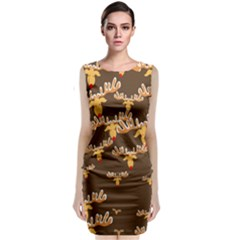Christmas Reindeer Pattern Classic Sleeveless Midi Dress