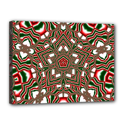 Christmas Kaleidoscope Canvas 16  x 12