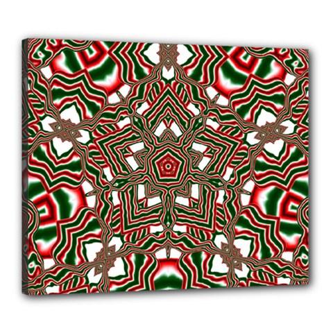 Christmas Kaleidoscope Canvas 24  x 20