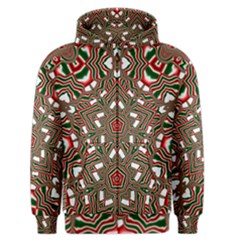 Christmas Kaleidoscope Men s Zipper Hoodie