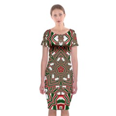 Christmas Kaleidoscope Classic Short Sleeve Midi Dress