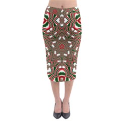 Christmas Kaleidoscope Midi Pencil Skirt