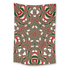 Christmas Kaleidoscope Large Tapestry
