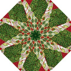 Christmas Quilt Background Straight Umbrellas