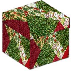 Christmas Quilt Background Storage Stool 12