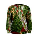 Christmas Quilt Background Women s Sweatshirt View1