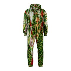 Christmas Quilt Background Hooded Jumpsuit (kids)