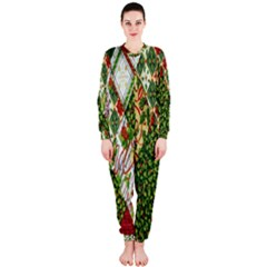 Christmas Quilt Background OnePiece Jumpsuit (Ladies)