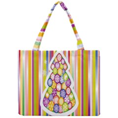 Christmas Tree Colorful Mini Tote Bag