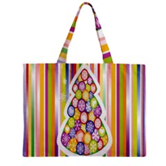 Christmas Tree Colorful Zipper Mini Tote Bag
