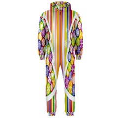 Christmas Tree Colorful Hooded Jumpsuit (Men)