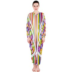 Christmas Tree Colorful Onepiece Jumpsuit (ladies)