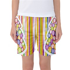 Christmas Tree Colorful Women s Basketball Shorts