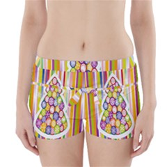 Christmas Tree Colorful Boyleg Bikini Wrap Bottoms