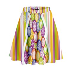 Christmas Tree Colorful High Waist Skirt