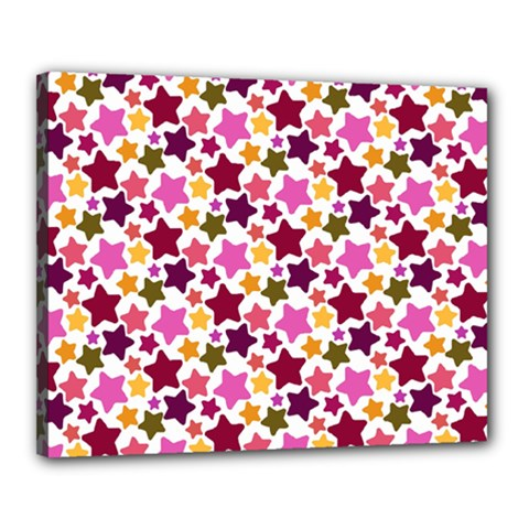 Christmas Star Pattern Canvas 20  X 16