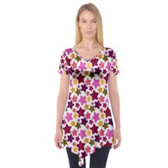 Christmas Star Pattern Short Sleeve Tunic