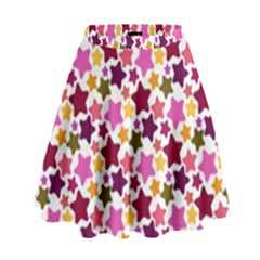 Christmas Star Pattern High Waist Skirt