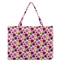Christmas Star Pattern Medium Zipper Tote Bag
