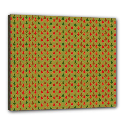 Christmas Trees Pattern Canvas 24  X 20