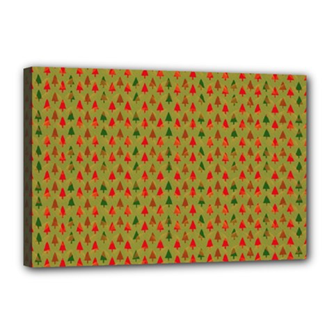 Christmas Trees Pattern Canvas 18  x 12