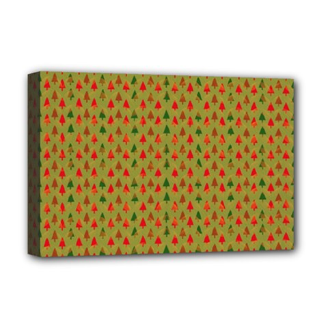 Christmas Trees Pattern Deluxe Canvas 18  x 12