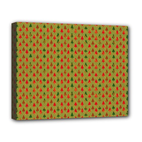 Christmas Trees Pattern Deluxe Canvas 20  x 16