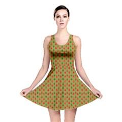 Christmas Trees Pattern Reversible Skater Dress