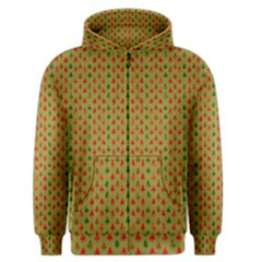 Christmas Trees Pattern Men s Zipper Hoodie
