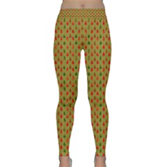 Christmas Trees Pattern Classic Yoga Leggings