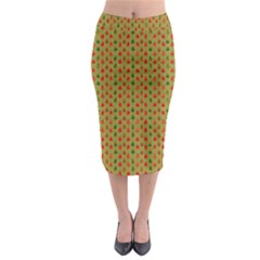 Christmas Trees Pattern Midi Pencil Skirt