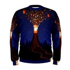 Christmas Volcano Men s Sweatshirt