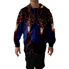 Christmas Volcano Hooded Wind Breaker (Kids)